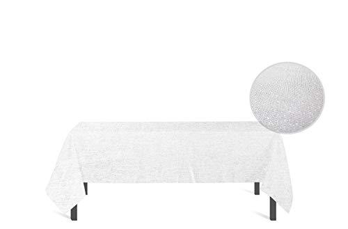 Soleil d'ocre Bella Nappe Rectangle, anti-tâches, Polyester, Blanc, 160x300 cm