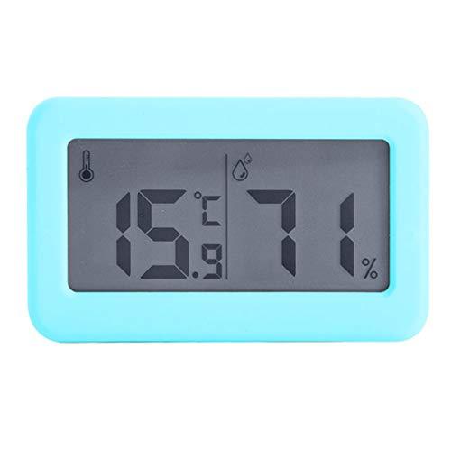 ZHIRCEKE Termómetro Digital electrónico y higrómetro higrómetro termómetro Digital Sala Interior termómetro para la Temperatura Ambiente y la Humedad con Pantalla de 3 Pulgadas con niños,Azul