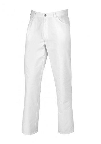BP 1645-485-21-3XLs Unisex-Hose, mit Gummizug in der Taille, 215,00 g/m² Stoffmischung, weiß, 3XLs