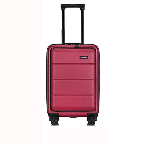 GNNHY Zakelijke koffer, Draagbaar op Hand Cabin Bagage- Harde Shell Reistas/Lichtgewicht Duurzaam/4 Spinner Wielen/Wachtwoordslot / -Mannen En Vrouwen Fashion Box