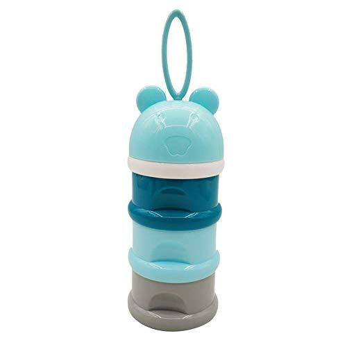 Dispensador de leche en polvo Portátil 3 capas dispensador Fórmula apilable para niños pequeños envase alimento latas leche enfermería por viajes y al aire libre leche en polvo Caja almacenamiento