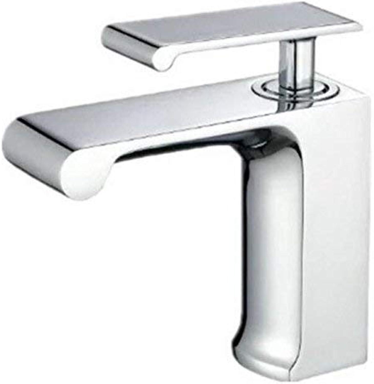 Oudan All Copper Waterfall, Water Cooled Hot Basin Faucet, Basin Head Faucet, Basin Top Tap, Ceramic Disc Spool,A (color   B, Size   -)
