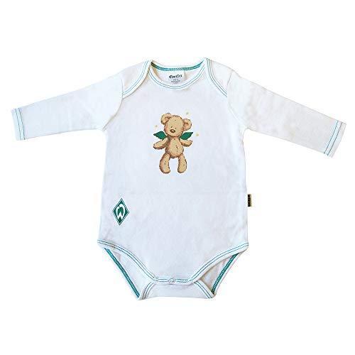 Ewers Werder Bremen Baby Body Langarm-Body Weiss mit Motiv für Mädchen und Jungen 100% Baumwolle