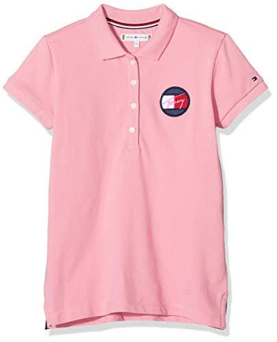 Tommy Hilfiger Mädchen Essential Polo S/s Poloshirt, Pink (Pink Tf4), One Size (Herstellergröße: 86)