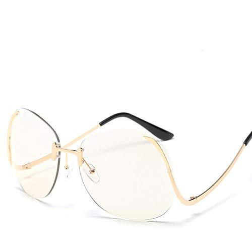 chuanglanja Gafas De Sol Juveniles Gafas De Sol De Gran Tamaño Para Mujer Gafas Con Tinte Degradado Pierna Doblada Para Mujer/Hombre Gafas De Sol Para Exteriores UV400-Color-U