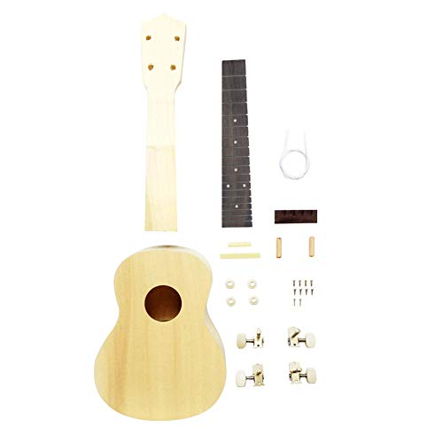 Zimo DIY Ukulele Make Your Own Ukulele Hawaii Ukulele Kit (23inch)