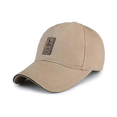 Lanly Baseball Cap Einstellbar Unisex Herren Damen Baumwolle UV Schutz Schirmmütze Baseballkappe Sonnenhut Outdoor Wanderhut (Khaki)
