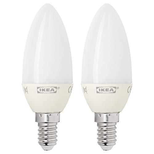 RYET LED-lampa E14 200 lumen, ljuskrona opal vit
