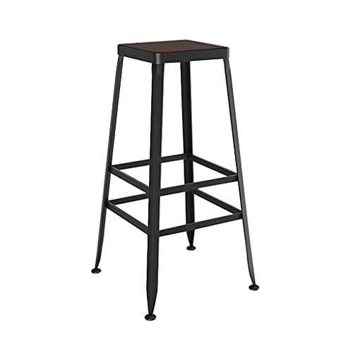 XPfj Taburetes de bar de cocina, sillas de bar de estilo industrial, sillas minimalistas modernas, taburetes de bar, taburetes retro, taburete de cuero y madera (color: B, tamaño: 40 x 40 x 80 cm)
