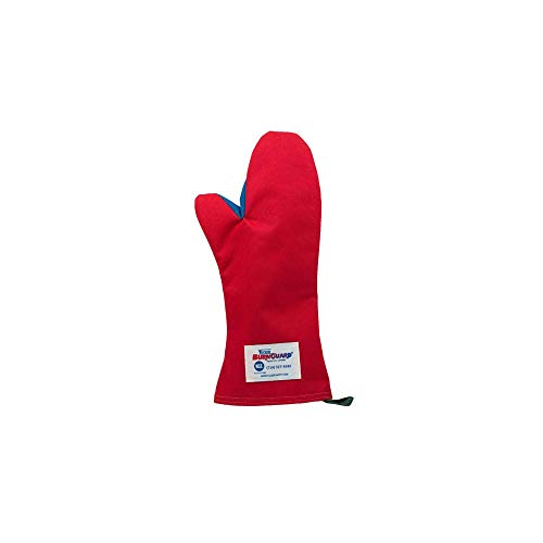 Tucker Safety 56159 Products Tucker BurnGuard Protective Apparel, Conventional Style Oven Mitt, Poly-Cotton, Removable Liner, Each, Medium, 15