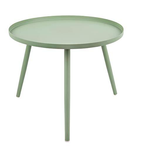 Present Time - Table Basse métal Vert Jade Elle Ø50 cm