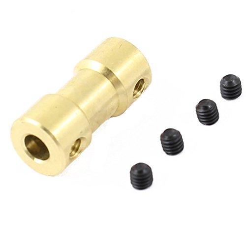 TOOGOO(R) Motoranschluss 4 mm bis 5mm RC Flugzeug Spielzeug Messing Motorwellenkupplung Stecker Kupplung
