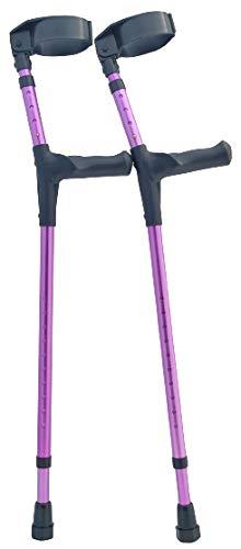 Adult Forearm Crutches Adjustable 3 1/2 inch Full Cuff - OrthoStix (Purple)