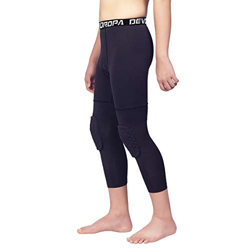 RlaGed Youth Boys Compression Leggings Pants Quick Dry Football Basketball Sports Tights Athletic Baselayers for Kids
