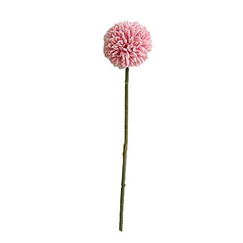 Puro Fotografía de bola única rama de diente de león de la espina falsificación flor pequeña imitación falsificación flor pequeña Pom-pom flor artificial photography decoración de Navidad Elegante