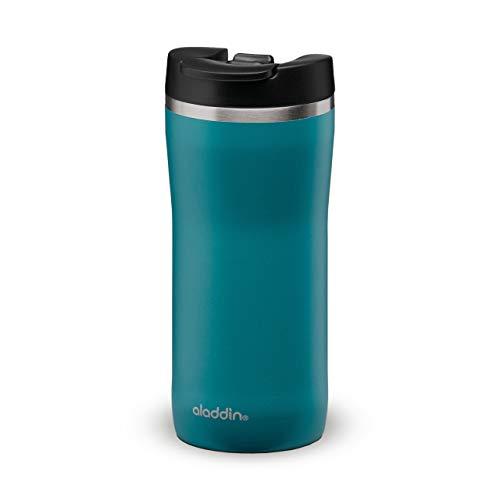 Aladdin Barista Mocca Thermavac Leak-Lock Stainless Steel Travel Mug 0.35L Aqua Blue – Auslaufsicherer Becher - Doppelwandige Vakuumisolierung - Hält 3 Stunden Heiß - BPA-Frei - Spülmaschinenfest