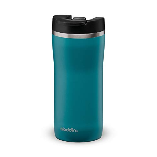 Aladdin Barista Mocca Thermobecher, Rostfreier Stahl, Aqua Blue, 0,35 Liter