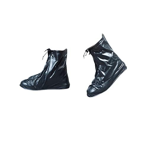 Überschuhe Fahrrad Wasserdicht Regenüberschuhe mit Reissverschluss Regen Schuhüberzieher Mehrweg Anti-Rutsch Regenschutz Schuhe Überziehschuhe für Damen und Herren Celucke
