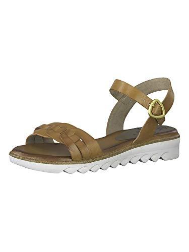 Jana Femmes Sandale 8-8-28602-26 305 Marron Largeur H Taille: 37 EU
