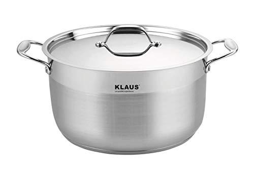 KLAUS - Marmite Inox 20l Turbo Induction + Couvercle en inox incassable