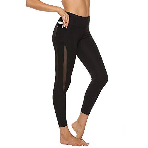 Opprxg Leggings de Cintura Alta para Mujer con Bolsillos Malla Sexy Deportes Fitness Correr Pantalones de Yoga Leggings Gym Girls Leggings