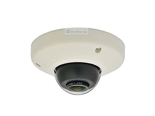 LevelOne FCS-3092 Panoramic Dome Network Camera, 5-Megapixel, PoE 802.3af, WDR IP-Kamera, Schwarz, Weiß