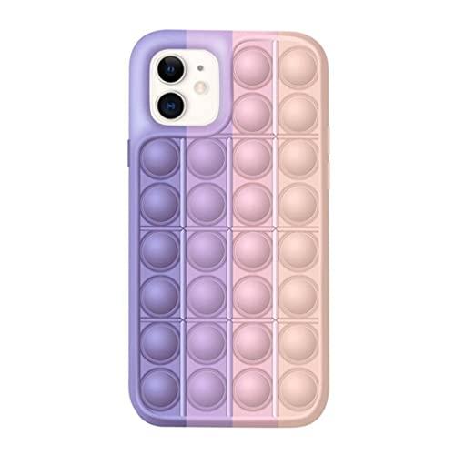 PopMaster Pop It Schutzhülle für iPhone 7, iPhone 8, iPhone SE 2020, iPhone 6, iPhone 6S (pinkes Einhorn)