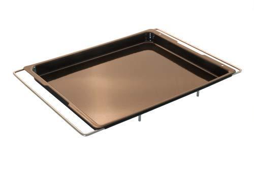 Lares - emailliertes Backblech mit ausziehbaren Bügeln - Maße der Backfläche: 30 x 37cm - Made in Germany