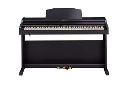 Roland, RP501R 88 Upright Digital Piano with Progressive Hammer Action and Escapement, Ivory Feel, Bluetooth MIDI/USB, Stereo Speakers, Key Cover, Black (RP-501R-CB)
