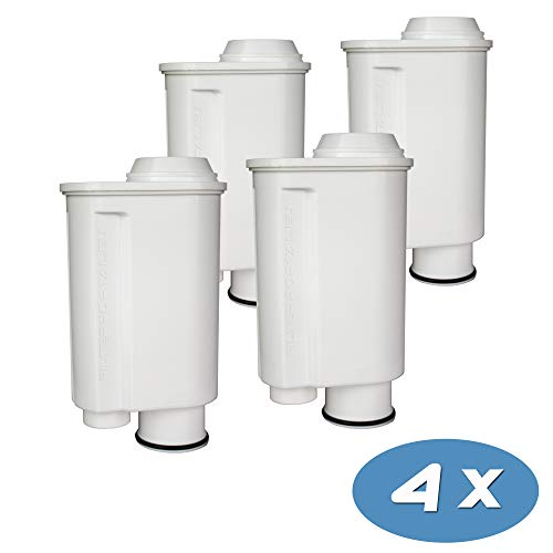 4-pack Wasserfilter für Espressomaschine Kaffeevollautomat kompatibel Philips Saeco Brita Intenza+ Plus CA6706/48 CA6702/00 CA6702/10 Moltio Incanto Exprelia Intelia Lavazza Gaggia A Modo Mio Rondo