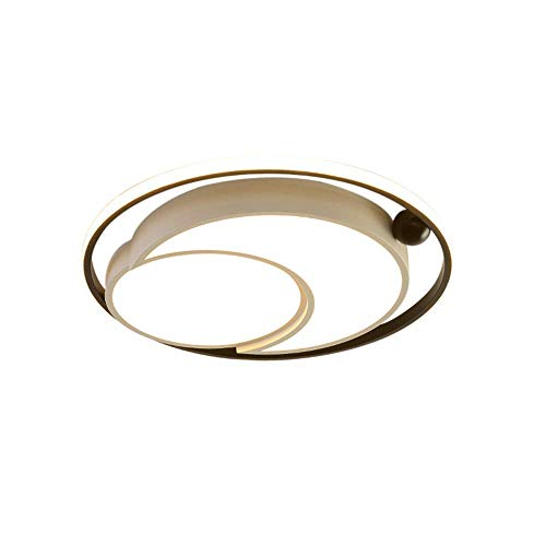 WANQINV Lámpara de techo LED incrustada nórdica moderna con un diámetro de 45 cm-55 cm, lámpara de techo de acrílico redonda redonda negra de tres colores, adecuada para sala de estar, dormitorio, sal