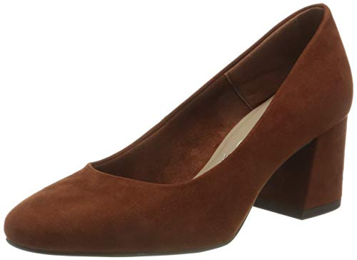 Tamaris Damen Pumps, Brandy, 39 EU