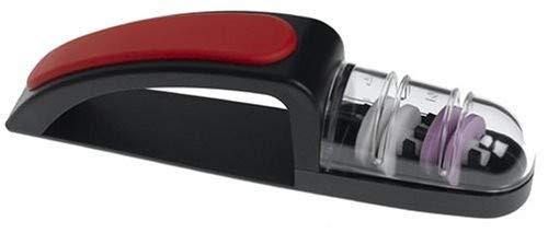 MinoSharp Ceramic Wheel Water Sharpener Plus, Black/Red