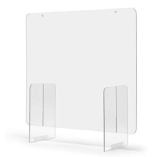 Enjoyyouselves Protector de pantalla de plexiglás acrílico transparente para interruptores y ventanas de transacción, farmacias, gasolineras y tiendas.