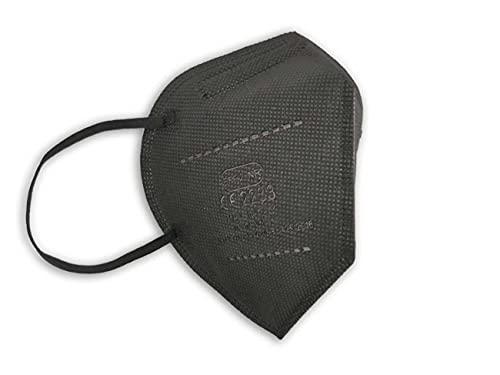 PROTECH TP Black MADE IN ITALY FFP2-Masken Zertifiziert CE 2233 Kategorie PSA: III, gemäß EN 149: 2001 + A1: 2009. Schachtel mit 10 einzeln verpackten Stücken