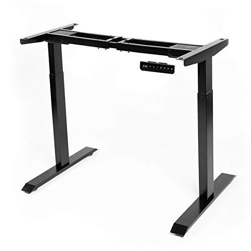 AECOJOY Electric Standing Desk Frame Black Dual Motor Frame Height Adjustable Stand Up Workstation with Memory Preset Controller