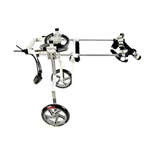 Gg1202 Afmeting voor middelgrote hond instelbaar roestvrij staal Cart Pet/Cat Dog rolstoel achterbeen revalidatie voor gehandicapte honden, 2-wiel