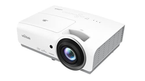 Vivitek DH856, proyector portátil Full HD con Zoom de 1,5X, relación de Contraste 15.000:1, 4800 lúmenes, WUGXA (1920 x 1200), Peso de 3,4 kg, Color Blanco
