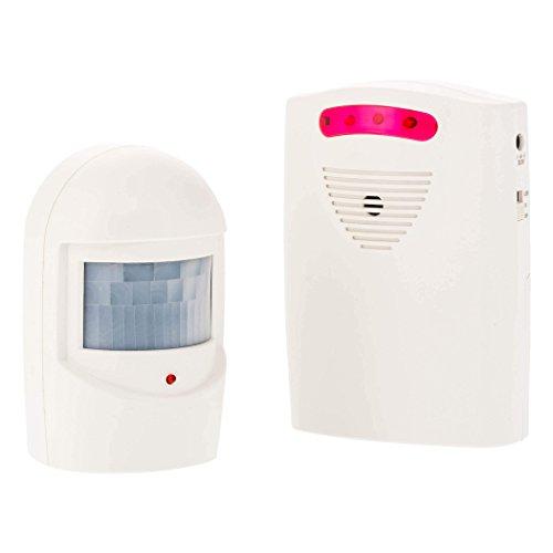 SEBSON Alarma Sensor Movimiento (105dB) o Detector de paso (81dB), Alimentado por Batería o con Fuente de Alimentación, Alarma de Seguridad