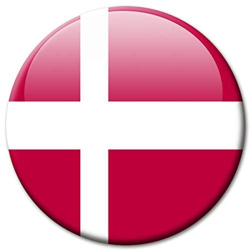 Kühlschrankmagnet Dänemark Flaggen Magnet Länder Reise Souvenir Flagge für Kühlschrank stark groß 50 mm