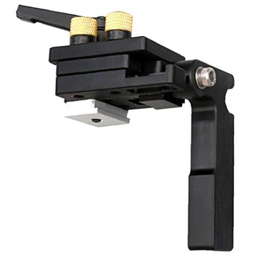 GGOOD Mitre Parada Pista Chute Dedicado limitador T-Slot Mitre Guía tapón de aleación de Aluminio para carpintería Carril guía Negro, Herramientas de Funcionamiento Manual