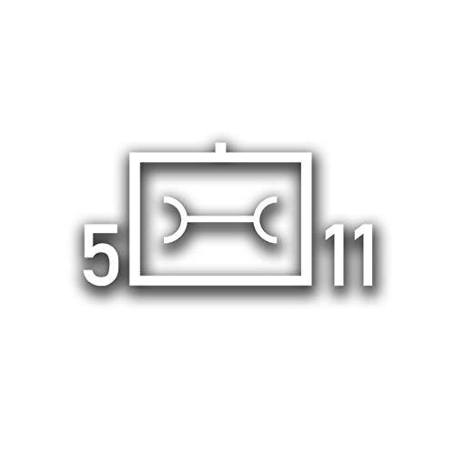 5 InstBtl 11 Taktische Zeichen Bundeswehr Instandsetzungsbataillon 28x14cm#A4534