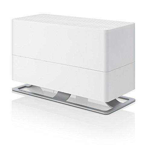 Stadler Form luchtbevochtiger Oskar Big, energiebesparende luchtbevochtiger voor ruimtes tot 100 m2, verdamper met automatische uitschakeling, dimbare LED's, zeer stil, wit