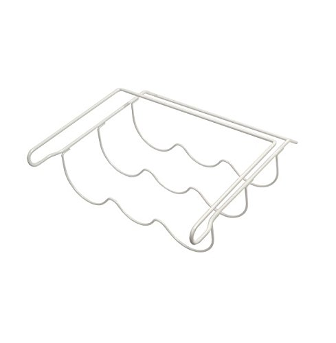 Invero Universal White Kitchen Fridge Bottle and Wine Rack Shelf (326mm x 326mm) - Ideal Space Saver