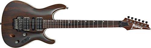 Ibanez S970WRW-NT Premium E-Gitarre (Premium Model, Afrikanischer Mahagoni Korpus, D'Addario Saiten, Palisander Decke und Griffbrett) Natural Gloss
