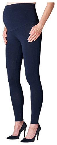 ESPRIT Maternity Damen Legging OTB M84122 Umstandsleggings, Blau (Blue (Night Blue 486) 486), 36 (Herstellergröße: S/M)