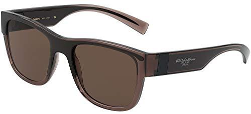 Dolce & Gabbana 0DG6132 Gafas, Transparent Brown/Black, 54 para Hombre