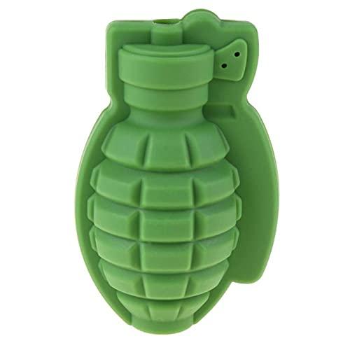 Delicioso 3D granada forma cubo de hielo molde de silicona de grado alimenticio creativo hogar DIY hecho a mano molde de hielo