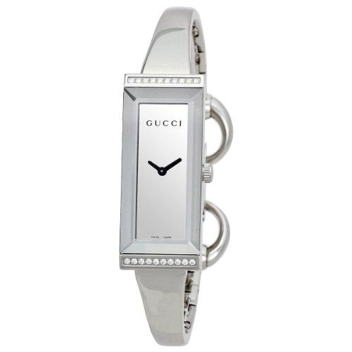Gucci Damen-Armbanduhr G- Frame Analog Quarz Edelstahl YA127505