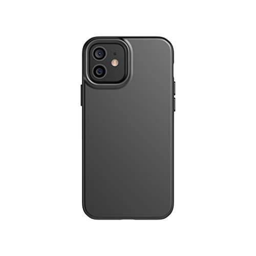 tech21 Evo Slim Schutzhülle für Apple iPhone 12 & 12 Pro 5G – Keimbekämpfung antimikrobielle Schutzhülle mit 2,4 m Fallschutz, Anthrazit Schwarz (T21-8382)